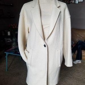 Zara Basic Textured Oversized Blazer Sz L